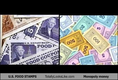 U.S. FOOD STAMPS Totally Looks Like Monopoly money
