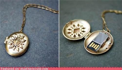 accessories,computer,Jewelry,locket,technology,USB