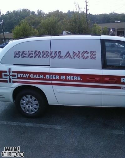 alcohol,ambulance,beer,car,emergency,hacked,Hall of Fame,keep calm,modification