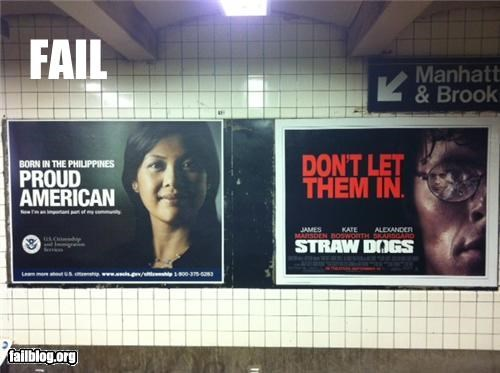 ads,failboat,g rated,juxtaposition,nyc,racism,Subway