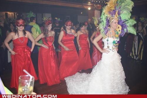 funny wedding photos,Mardi Gras,masks,new orleans