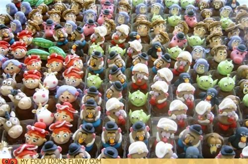 characters,chocolate,fondant,toy story,toys,Truffles