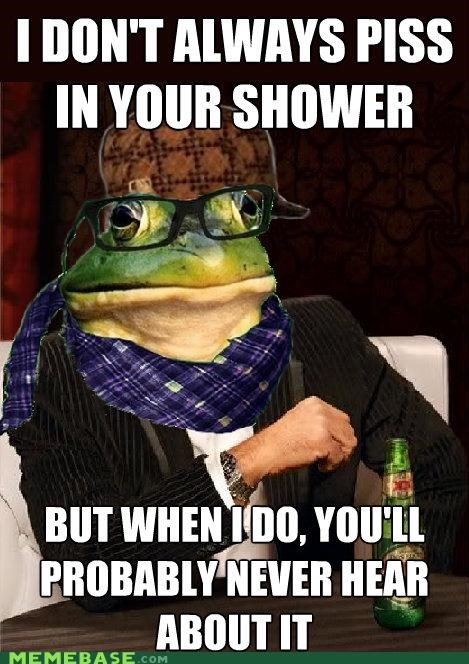 The Most Interesting Scumbag Hipster Bachelor Frog in the World