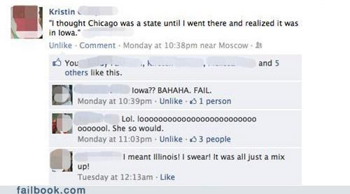 chicago,facepalm,geography,Iowa,your friends are laughing at you