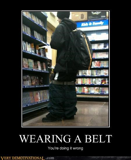 WEARING A BELT, Man