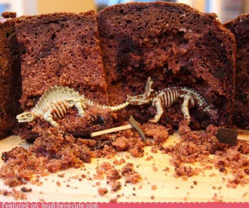 bones,cake,chocolate,dig,dinosaurs,epicute,pick