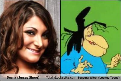 Deena (Jersey Shore) Totally Looks Like Senyora Witch (Looney Toons)