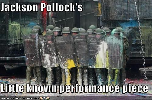 Jackson Pollock's   Little known performance piece