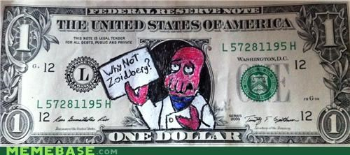 Can't think of anything draw on a dollar?