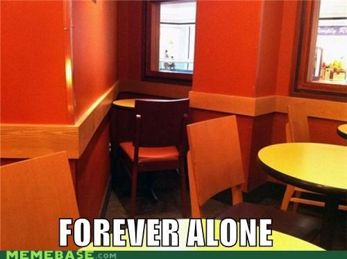 chairs,corner,forever alone,restaurant,seat,table