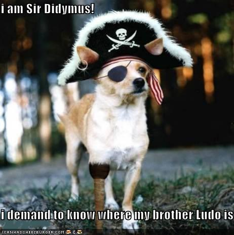i am Sir Didymus!  i demand to know where my brother Ludo is!