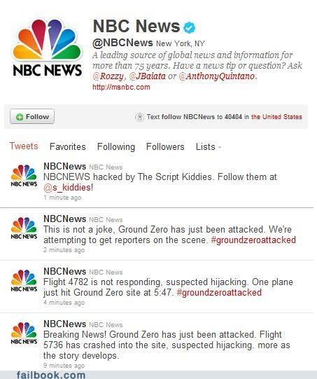 911,fake,ground zero,hacked,NBC News,news,twitter,Twitter Troubles