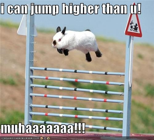 i can jump higher than u!  muhaaaaaaa!!!
