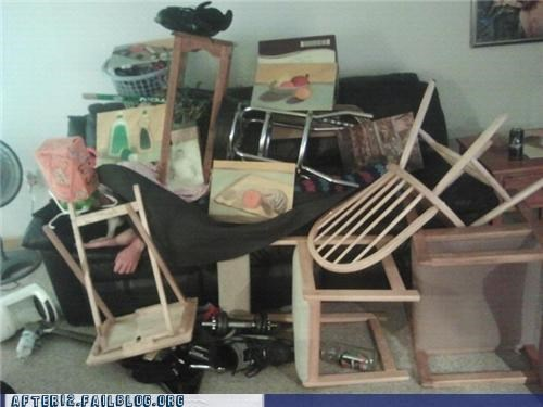 Furniture Fight Parties Always Have Casualties