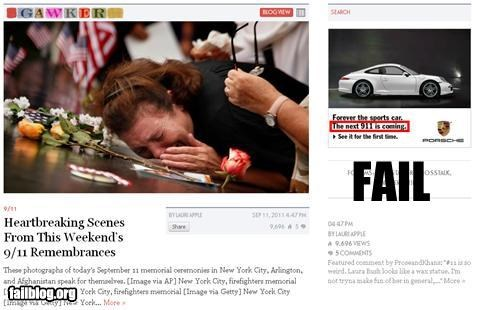 Probably Bad News: 911 Ad Placement FAIL