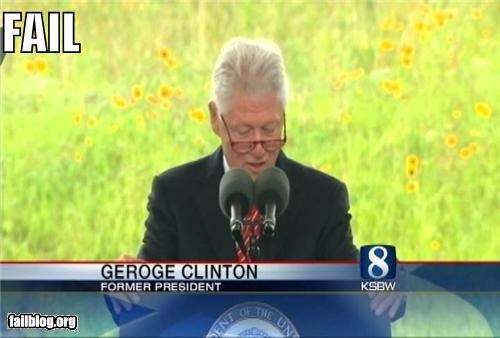 bill clinton,Chyron,failboat,George Clinton,g rated,Probably bad News