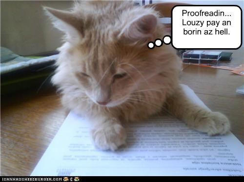 Proofreadin... Louzy pay an  borin az hell.