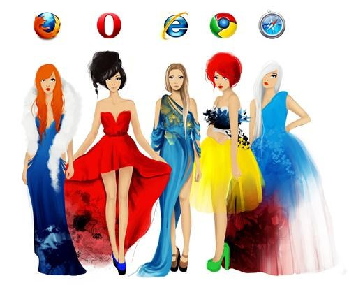 Anthropomorphized Internet Browsers of the Day