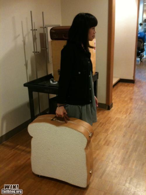 bread,case,design,fashion,food,suitcase,toast,wait what,weird