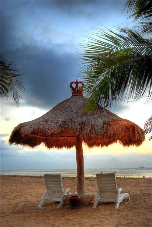 Beach Umbrella in Bali, Indonesia