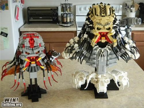 80s,alien,Aliens,if it bleeds,lego,model,nerdgasm,pop culture,Predator,sci fi,sculpture