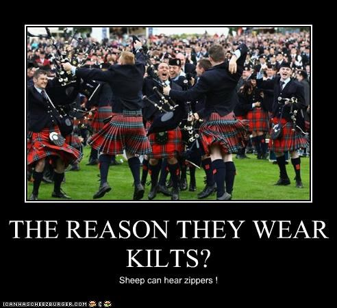 THE REASON THEY WEAR KILTS?