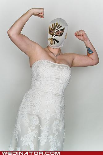 bride,funny wedding photos,luchador,mexican wrestling