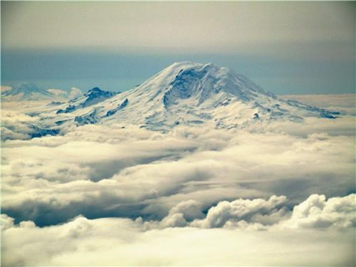 Mount Rainier from the Air, Pierce County, Washington