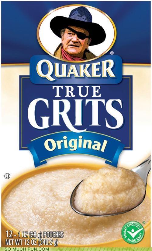breakfast,coen brothers,film,food,grits,literalism,Movie,photoshop,quaker,true grit