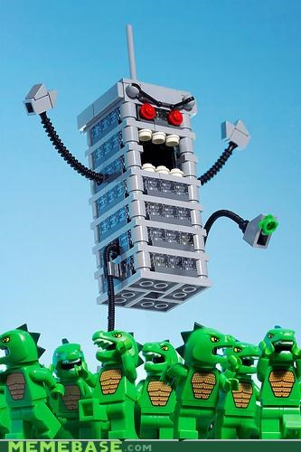 In Lego Russia, Building destroys Godzillas