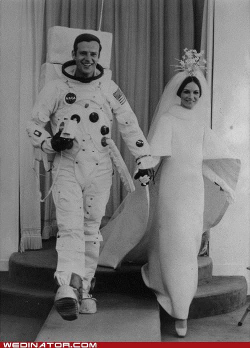 astronaut,funny wedding photos,Historical,retro,space