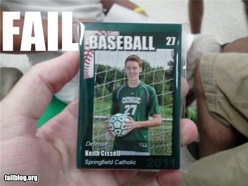 Baseball Card FAIL