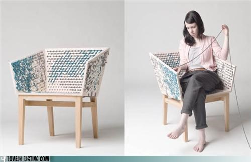 chair,craft,DIY,weave,yarn