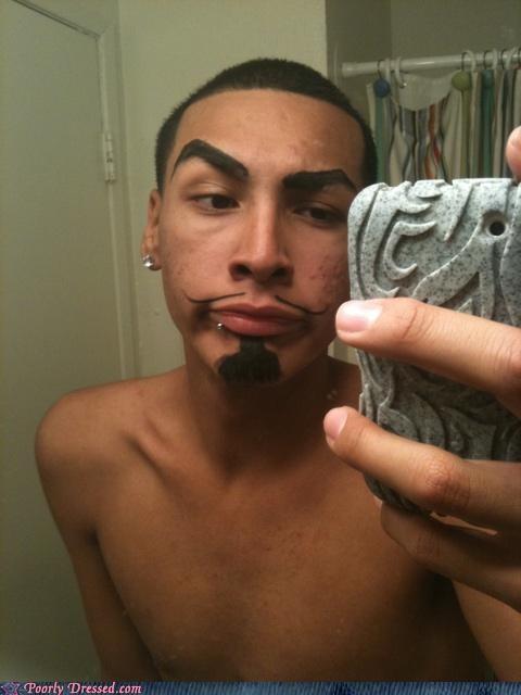 eyebrows,goatee,moustache,sharpie,v
