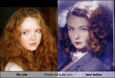 actress,actresses,lena katina,Lily Cole,musicians,redheads,singers,t.a.t.u