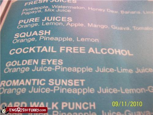 alcohol,beverage,drink,juice,menu,restaurant