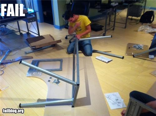 Desk Assembly FAIL