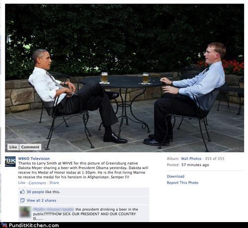 barack obama,beer,facebook,political pictures