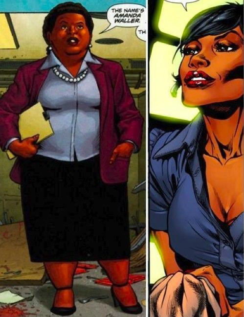amanda waller,body image,comics,DC reboot,DCU,Nerd News,new 52,skinny,suicide squad,the wall