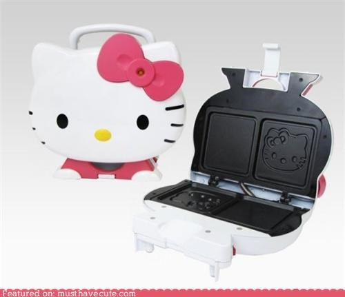 face,grill,hello kitty,sandwich maker,sandwich press