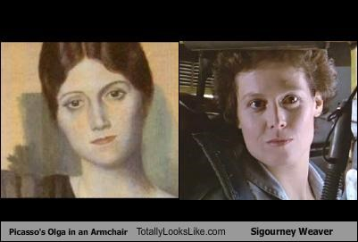 Picasso's Olga in an Armchair Totally Looks Like Sigourney Weaver