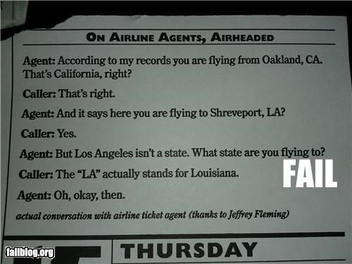 Airline Agent FAIL