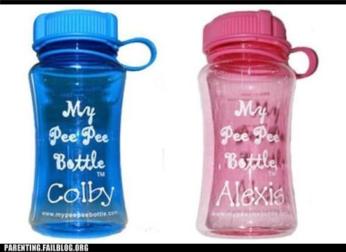 bottles,cute,eww,labeled,pee,products
