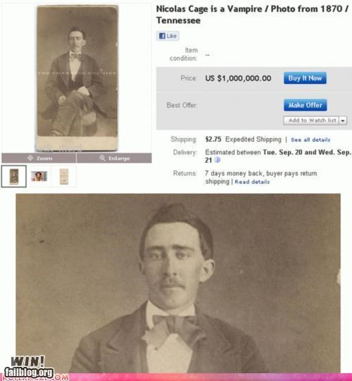 auction,celeb,conspiracy,ebay,historic,nicholas cage,vampire