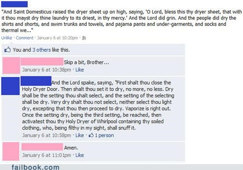 A Monty Python Prayer for Laundry