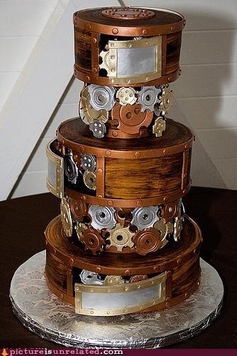 cake,clockwork,gears,Steampunk,wtf