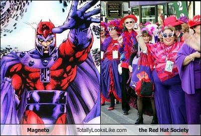 Magneto Totally Looks Like the Red Hat Society