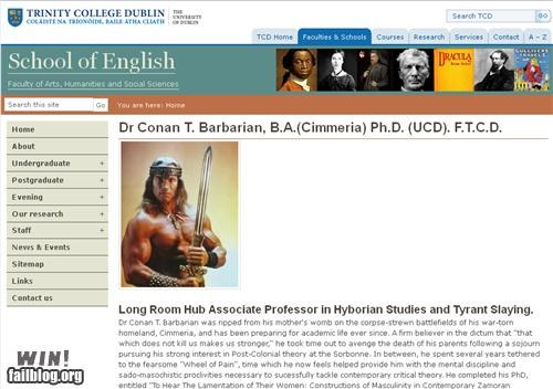 Completely Relevant News: Dr. Barbarian, So Long