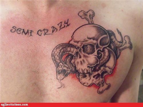completely crazy,crazy,semi crazy,skull