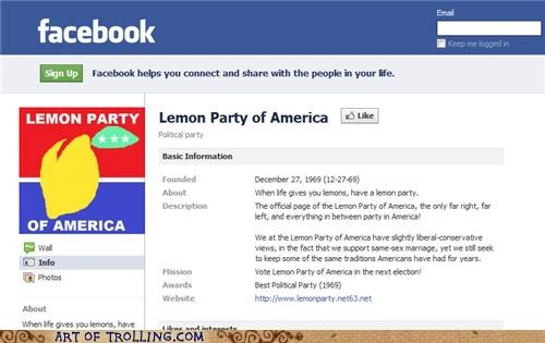When Life Gives You Lemons, Make a Political Party